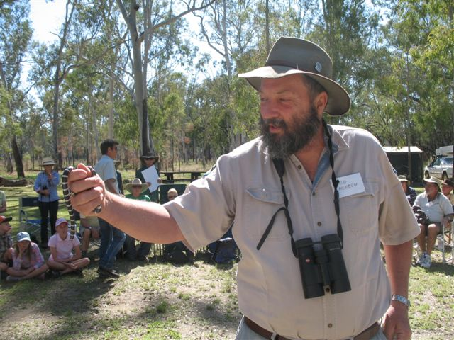 Rod Hobson with a bandi-bandi snake